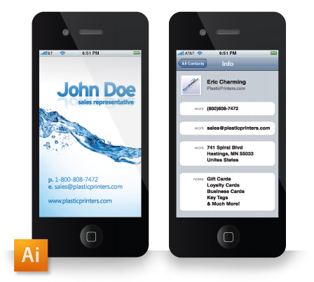 Free Iphone Business Card Download